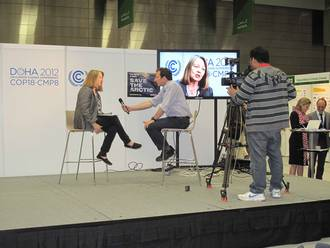 Dr Carol Turley interviewed at COP18